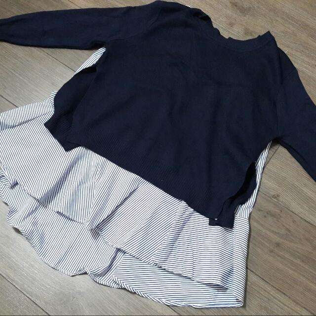 韓版兩件式針織上衣
