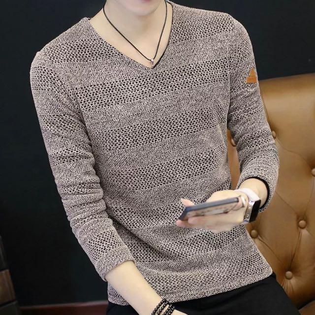 (全新)男針織上衣~大尺碼