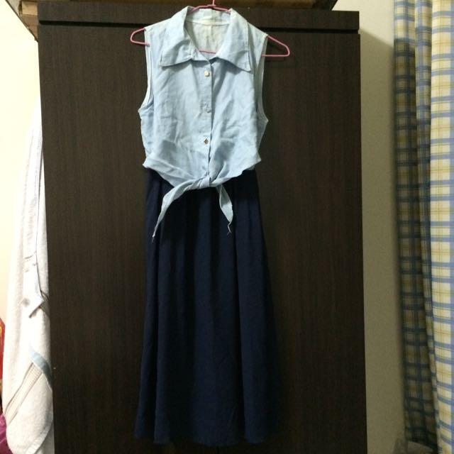 無袖長洋裝(含運)