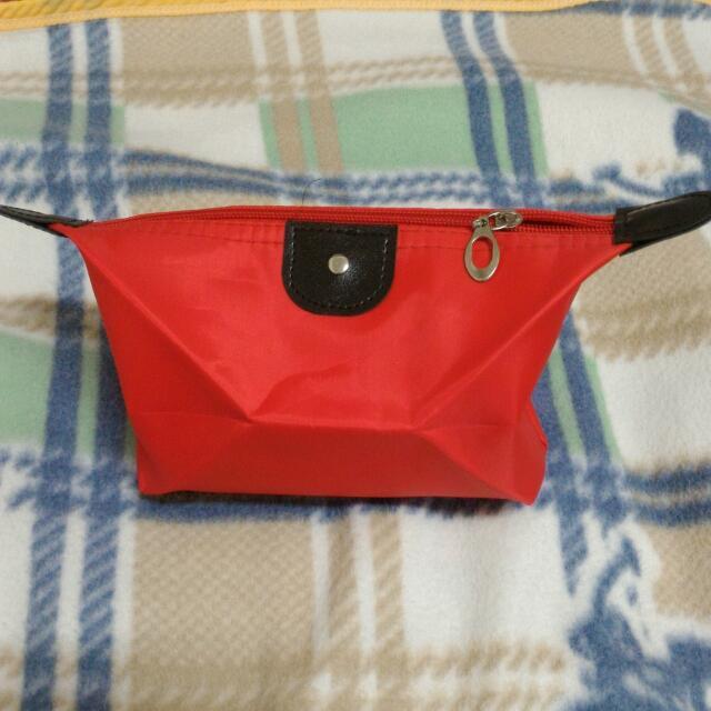 (全新)紅色收納包化妝包
