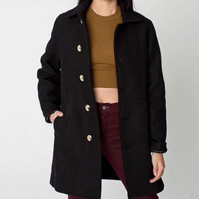 American Apparel Unisex Wool Peacoat - Size S