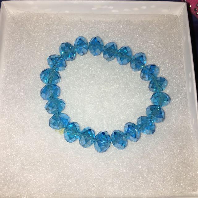 Aquamarine Blue Beads Bracelet