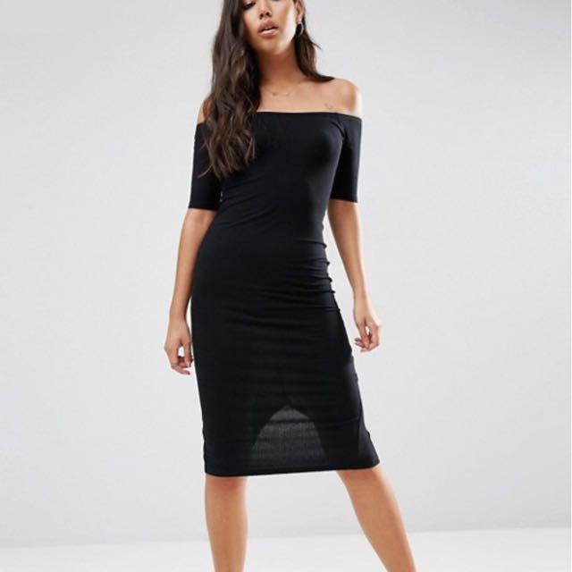 ASOS Off The Shoulder Body Con Dress