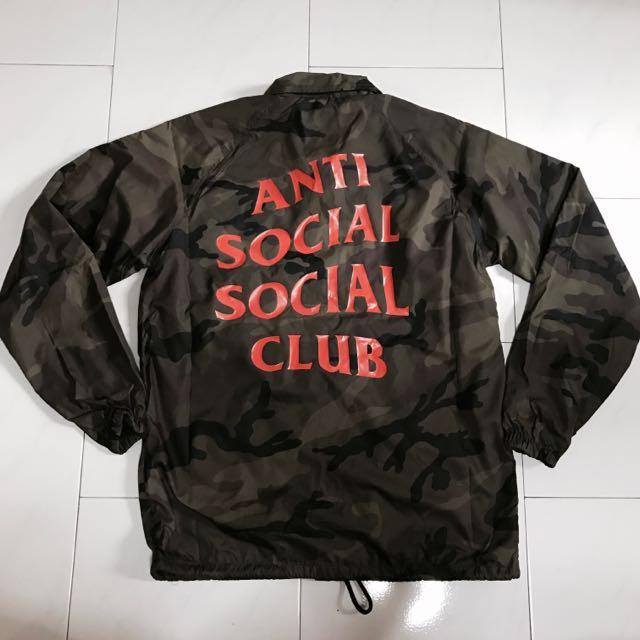 7423b334a297 Assc Anti Social Social Club Camo Coach Jacket