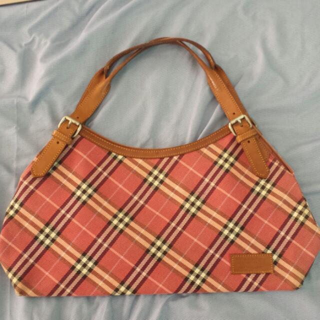 Authentic Burberry (Blue Label) Canvas Handbag