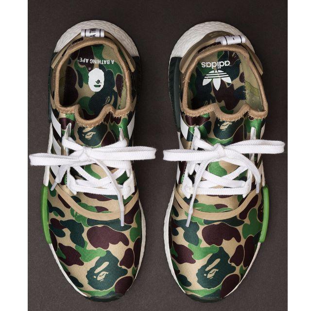 """ddafc4f10 CLOSED  BAPE X adidas NMD R1 """"Green Camo"""""""