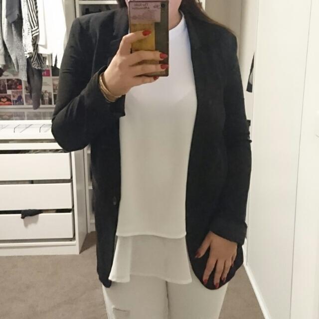 Bardot Black Blazer Size 6