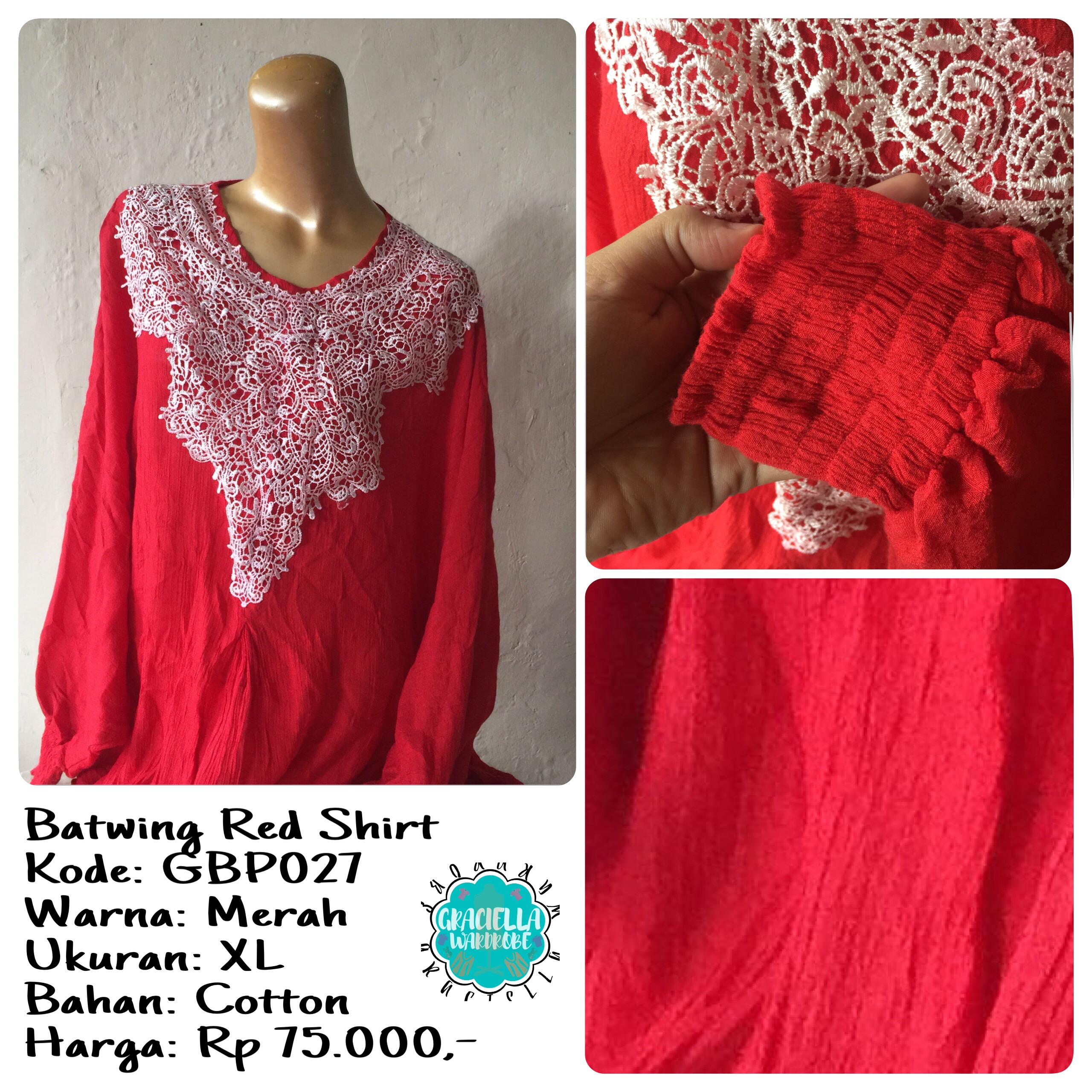 BATWING RED SHIRT