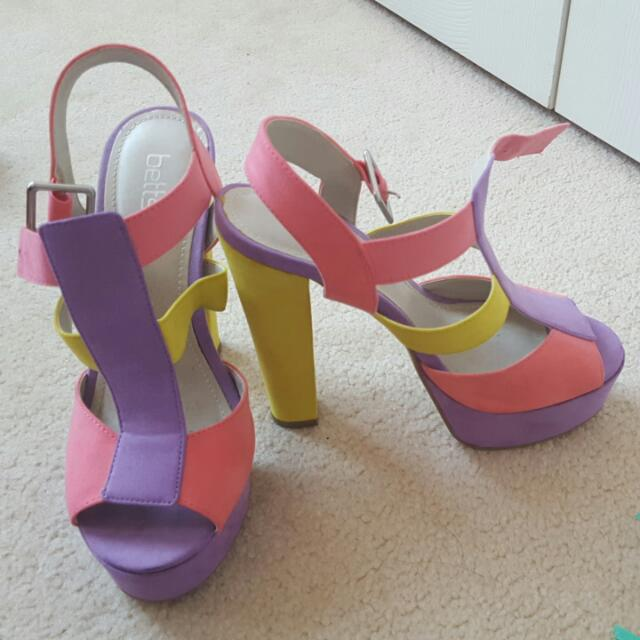 Betts Colourful Platform Heels