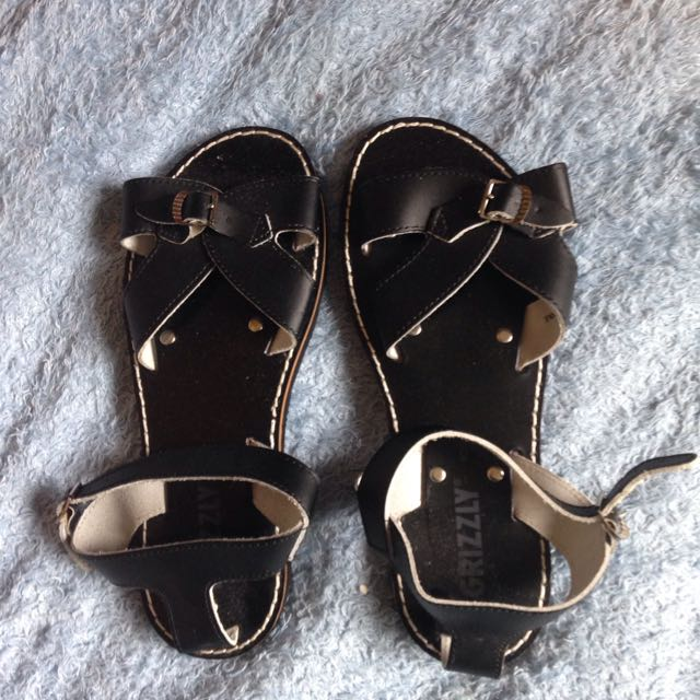 Black Rome Leather Sandals