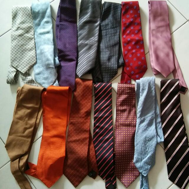 Bundle Asst Neckties All For 17(14pcs) 3sgd Each