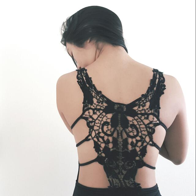 Butterfly Back Lace Dress size small to medium.