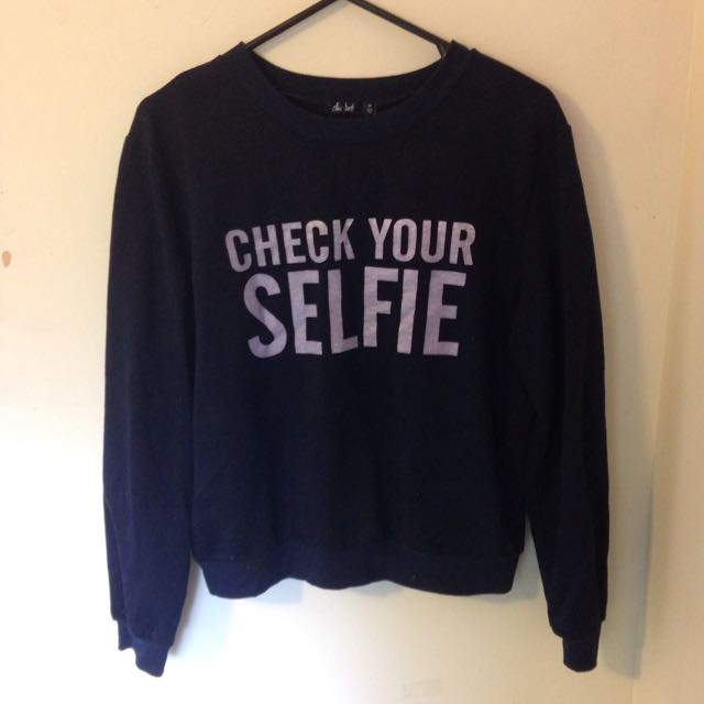 """check Your Selfie"" Jumper"