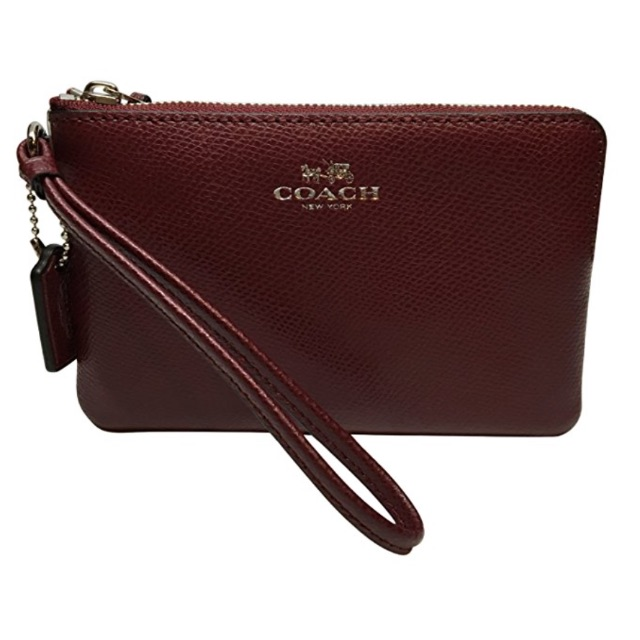 2eca5053bbd2 XMAS SPECIAL - Coach Crossgrain Leather Corner Zip Wristlet ...