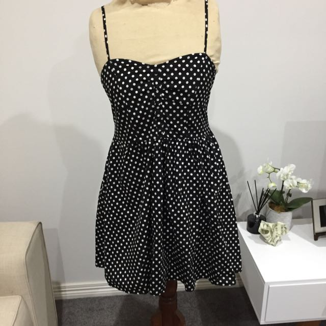 Cotton On Black/White Spotted Dress