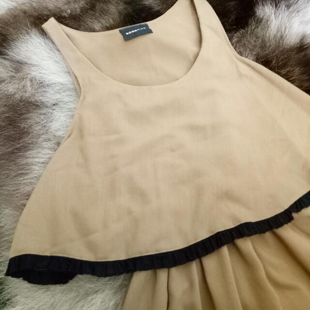 Detail Of Light Brown Chic Dress