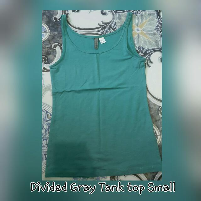 DIVIDED GRAY TANK TOP