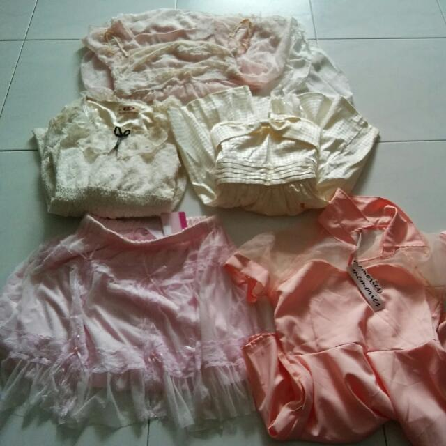 Bundle @10sgd Dress Tube Skater Dress And Skirt 2sgd Each