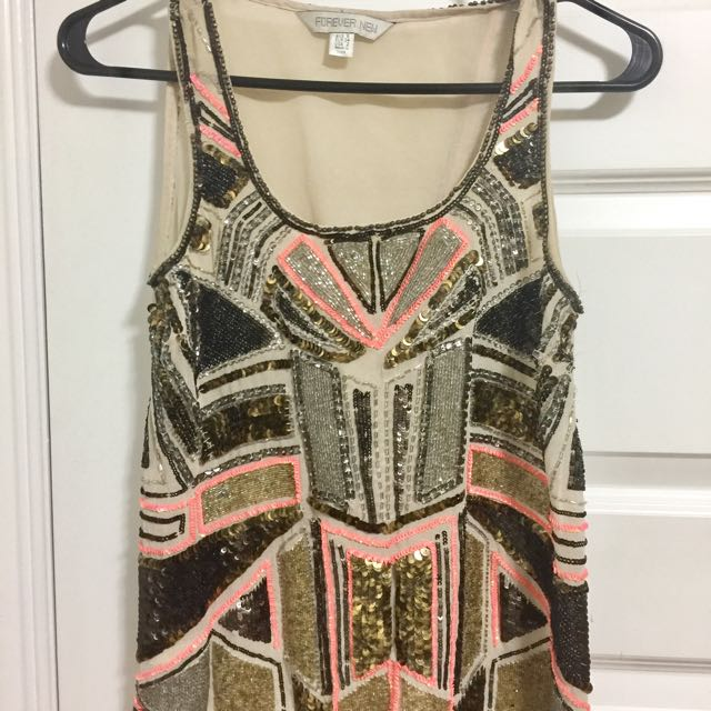 Forever New Sequins Top,Size Small