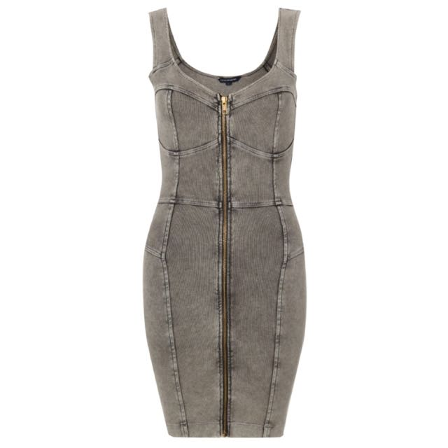 French Connection Denim Dress Front Zipper