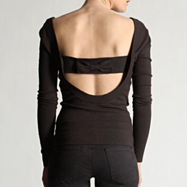 French Connection Low Back Detail Stretchy Sweater