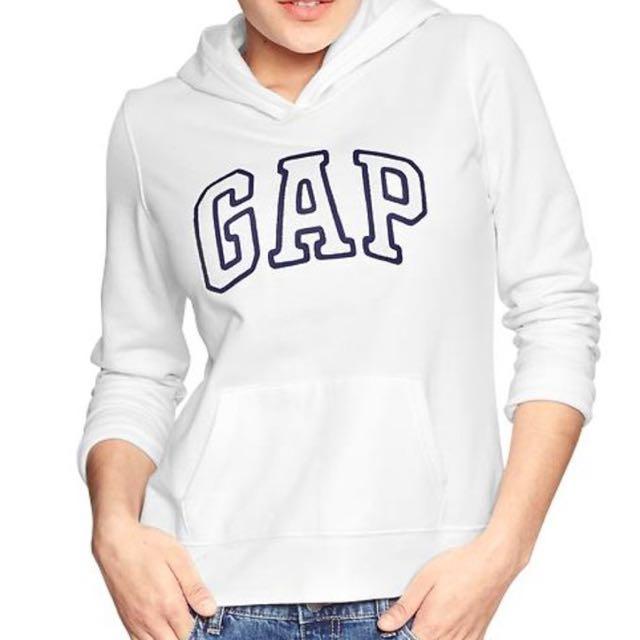 (全新)Gap白色帽T