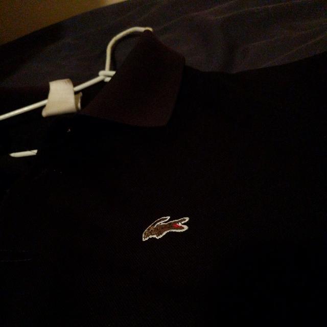 Genuine Black Lacoste Polo, Medium Size