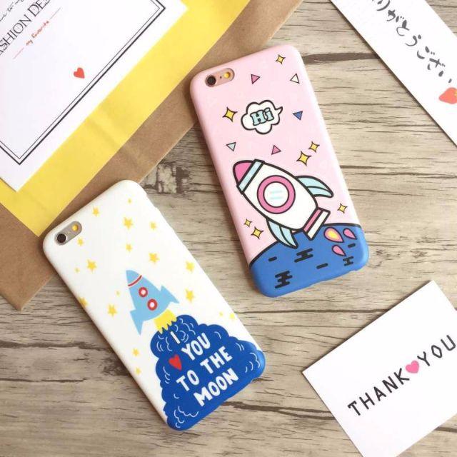 🚀預購🚀韓國卡通可愛火箭IPHONE7手機殼