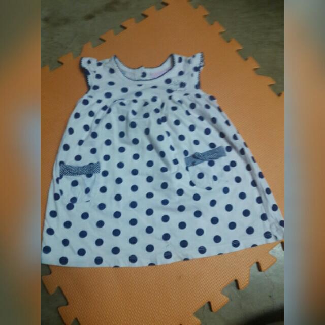 Kids - White Polky Dress