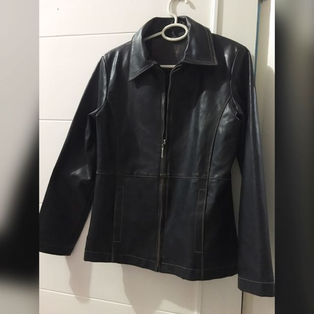 Leather Woman Slim Fit Jacket