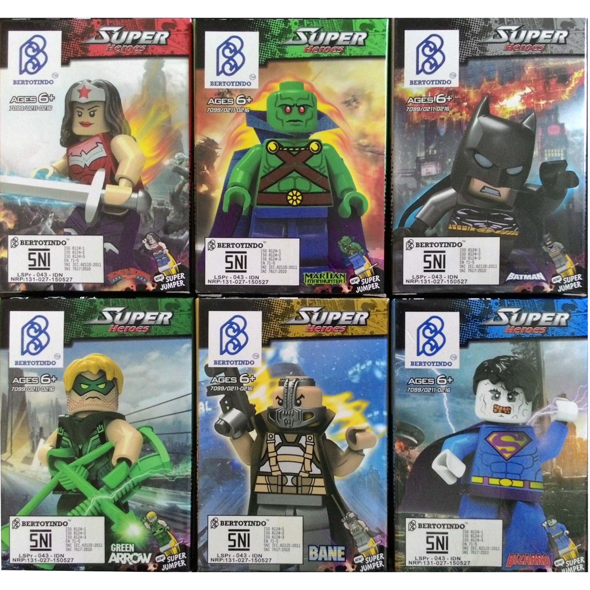 lego super heroes wonder woman martian batman green arrow bizarro #Bri