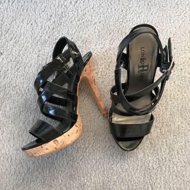 London Rebel Heels - Size 6