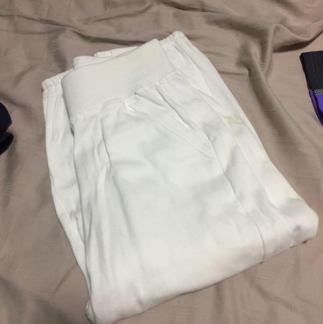 New Mjphosis White Jogger Pants