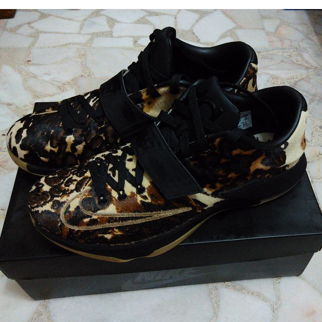 the latest f2618 02516 Nike KD 7 VII EXT QS Texas Longhorn State Leopard Prints (Authentic ...