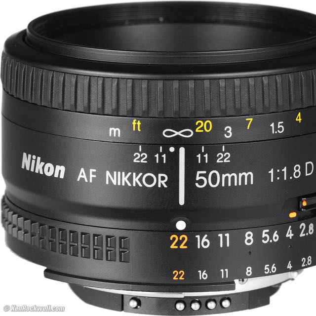 NIKKON Lens 50mm F/1.8D
