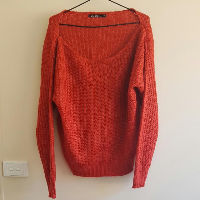Orange Crop Knitted Jumper