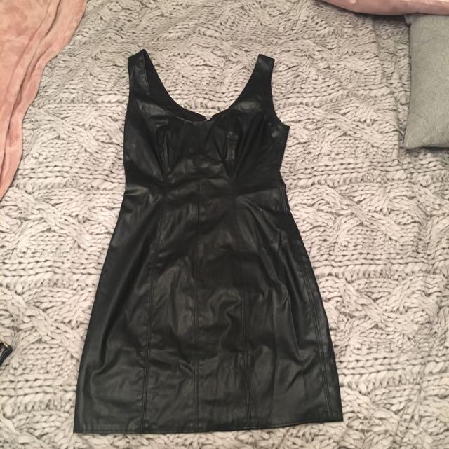 Pilgrim Size 6 Leather Look Dress