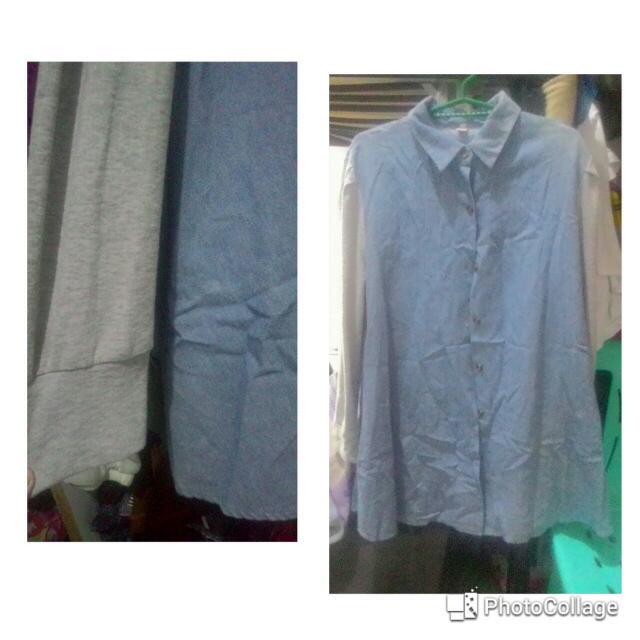 Polo sleeve dress (Denim)
