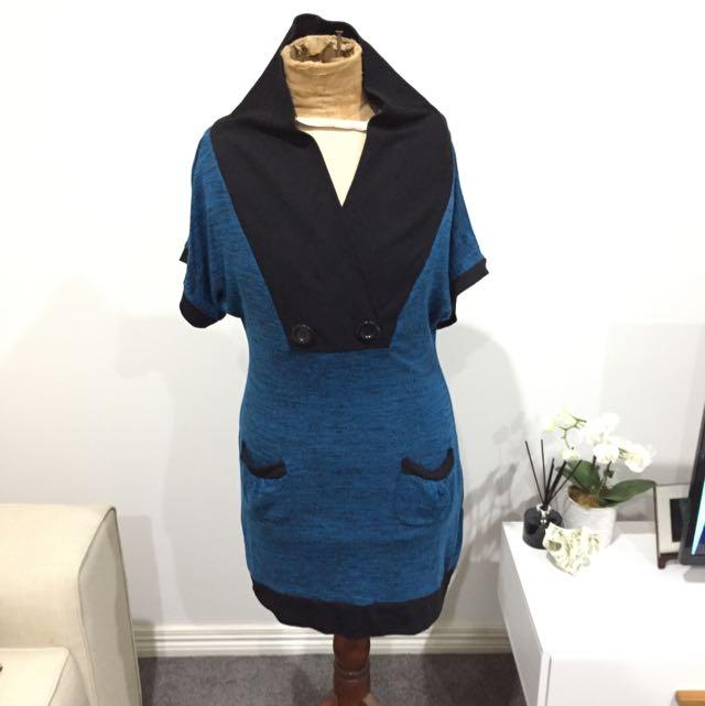 Ray Dress Blue