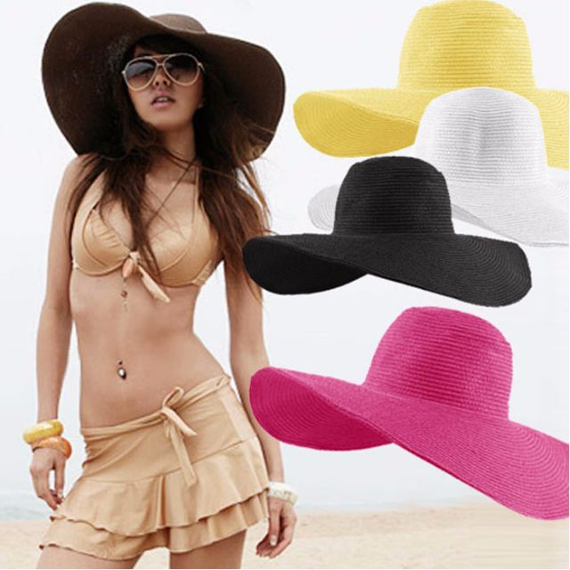 [Ready Stock] Stylish large wide sun hat / beach hat / straw hat