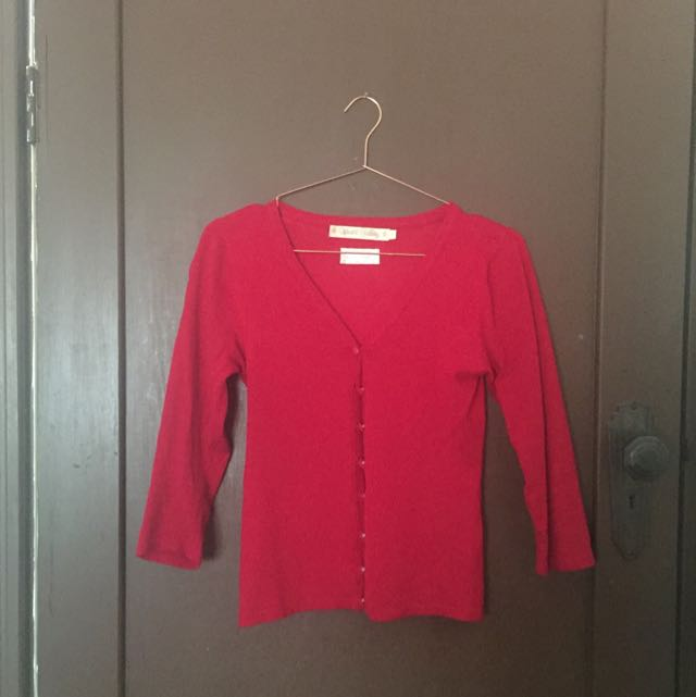 Red Wheels and Dollbaby Cardigan Size 8