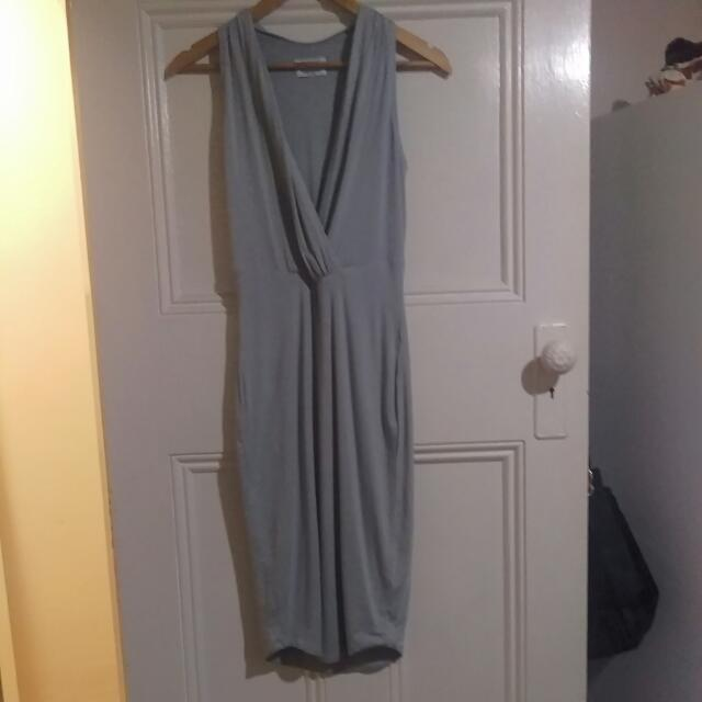 RUNAWAY The Label Grey Fitted Dress