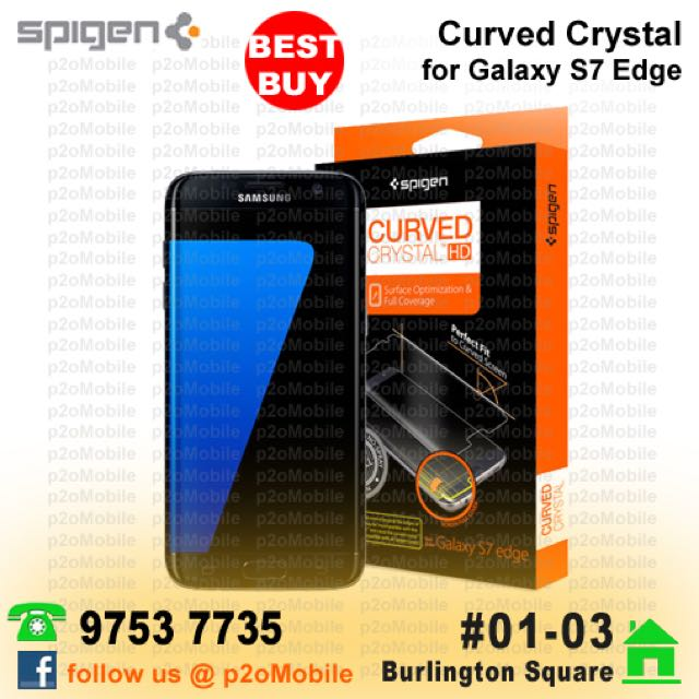 separation shoes ac01b 0440c (S7 Edge) Spigen Curved Crystal Screen Protector for Galaxy S7 Edge