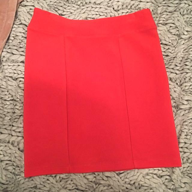 Sportsgirl Red Skirt XXS