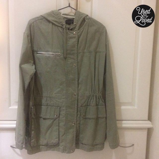 Topshop - Olive Green Parka Jacket