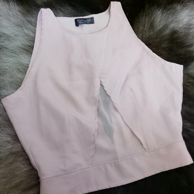 TOPSHOP Dusty Pink Crop Top