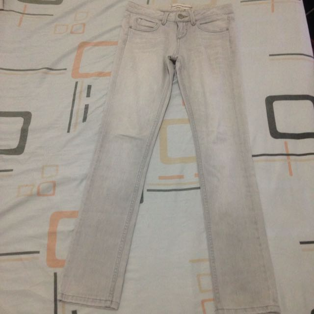 Topshop Light Gray Jeans