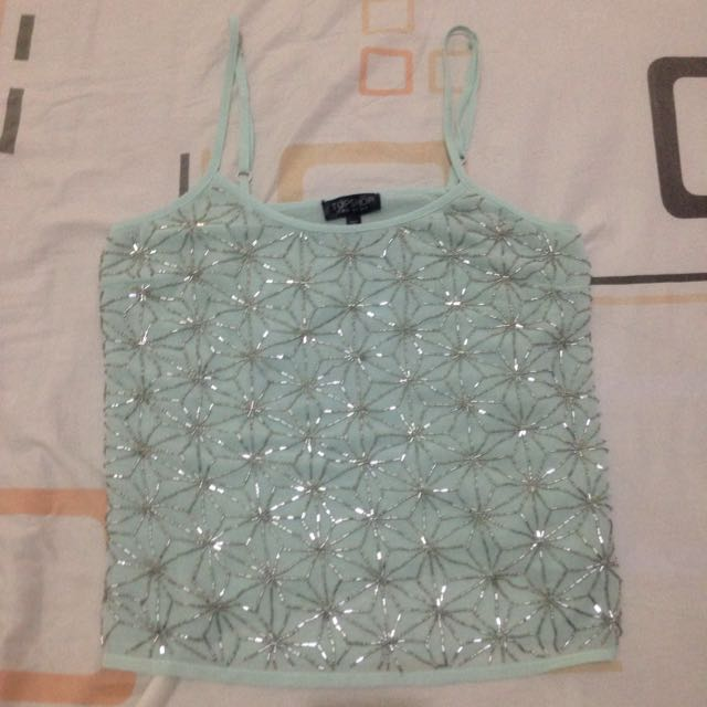 Topshop Sequined Sleeveless