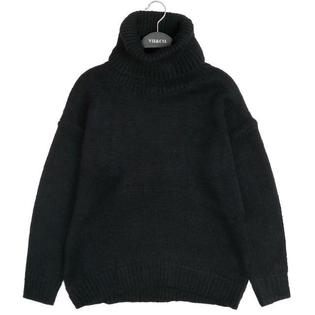 VII&CO 黑色高領毛衣