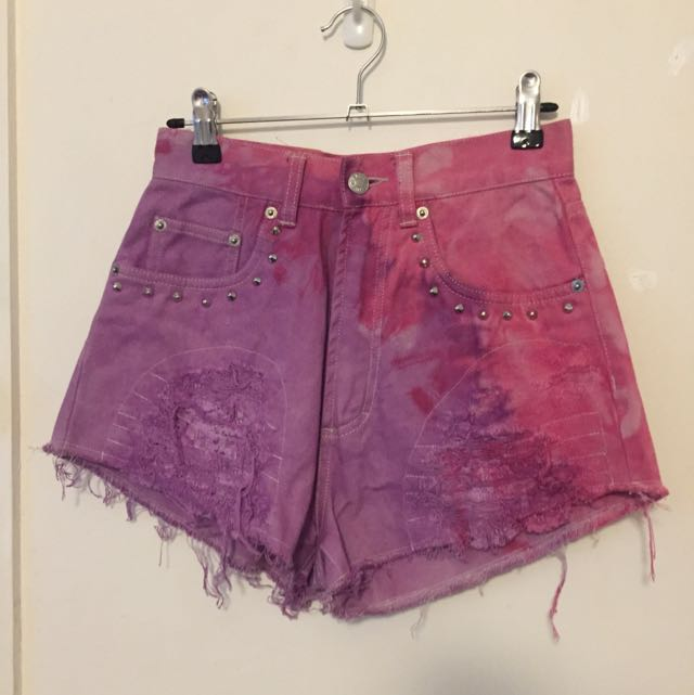Vintage Distressed And Dyed Shorts